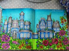 My blue house is finally finished! So many little details on theese pages but I really enjoyed it Summer feelings #smyckeskrinet…