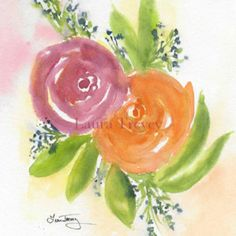 Original Watercolor Paintings by Laura Trevey Watercolor Rose, Watercolor Paintings, Original Paintings, Watercolors, Colorful Paintings, Joy And Happiness, Handmade Wedding, Mother Day Gifts, Special Gifts