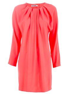 Jil Sander coral pink dress