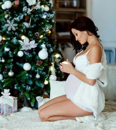 All I want for Christmas is you. my healthy baby boy or girl - Schwangerschaft fotos - Gravida