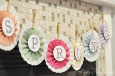Spring banner free printable download ...super cute!