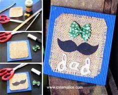 Carte Moustache Vintage - une idée pour la #fêtedespères