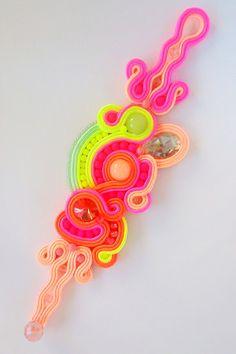 Soutache Jewelry, Crochet Earrings, Handmade, Hand Made, Handarbeit