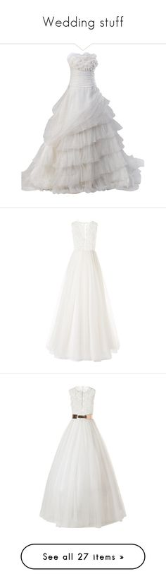 """Wedding stuff"" by castillia ❤ liked on Polyvore featuring dresses, wedding dresses, gowns, wedding, long dresses, petite white dresses, petite dresses, white dress, crinoline dress and wedding gowns"