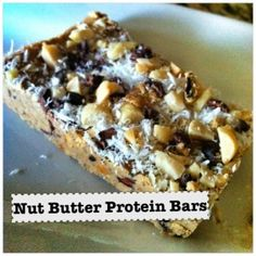 Nut Butter Protein Bars   Betty Rocker - Make them with any kind of nuts!