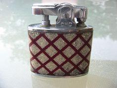 Vintage Lighter Cigarette Lighter Pocket Lighter Continental Lighter Red Lattice #ContinentalCMC