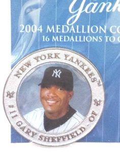 NY YANKEES GARY SHEFFIELD #11 ~ 2004 MEDALLION , COLLECTIBLE SEALED~FOR DAD New York Yankees Baseball, Ny Yankees, West Babylon, Reggie Jackson, New York Post, Shoe Box, Over The Years, Seal