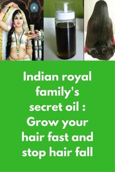 Indian royal family's secret oil : Grow your hair fast and stop hair fall This is the recipe my Grandma passed on to me and apparently is something which was used by Indian royal families to grow their hair, this recipe of DIY hair oil to controls hair fa How To Grow Your Hair Faster, How To Grow Natural Hair, Diy Hair Oil, Best Hair Oil, Hair Fall Remedy, Hair Fall Control, Reduce Hair Fall, Hair Secrets, Hair Growth Treatment
