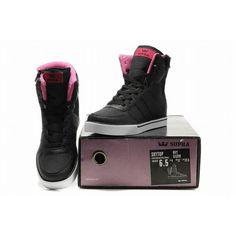 2011 New Supra Skytop High Tops Black/Pink Women's
