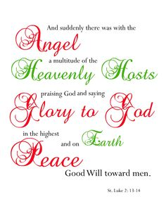 {Christmas Subway Art} Free Printable Scripture.