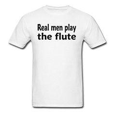 Amazon.com: DCR Custom Play The Flute for Men's White T-Shirts: Clothing