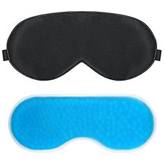 PLEMO Sleep Mask, Gel Pack Eye Shade Set, Hot & Cold Therapy for Insomnia, Puffy Eyes & Dark Circles