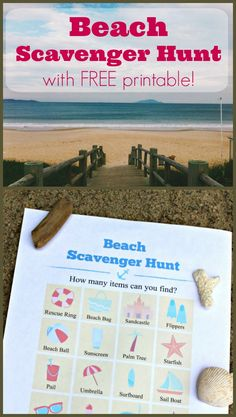 Take this printable Beach Scavenger Hunt with you on your next trip to the ocean, lake or seashore and search for clues in the sand! Kids Wedding Activities, Ocean Activities, Christmas Activities For Kids, Outdoor Activities For Kids, Outdoor Learning, Toddler Activities, Learning Activities, Outdoor Games, Outdoor Fun