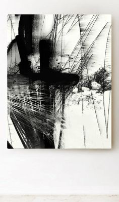 Black and white Abstract art by Dan Hobday