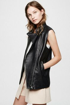 Be A Sellout: 20 Fall Buys To Watch Out For #refinery29  http://www.refinery29.com/shopping-list#slide17  Pair this buttery-soft leather vest over your most femme pieces for an edged-up look.