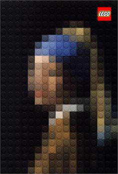 Legoの創造力はスゴイ!有名絵画をLegoで作ったアートワーク