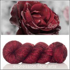 Expression Fiber Arts, Inc. - RED VELVET ROSE SUPERWASH MERINO SILK PEARLESCENT WORSTED, $30.00 (http://www.expressionfiberarts.com/products/red-velvet-rose-superwash-merino-silk-pearlescent-worsted.html)