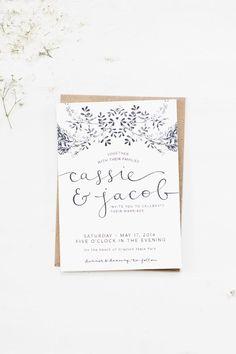 Color Inspiration: Fresh White and Ivory Wedding Ideas - wedding invitation idea; Stationery: The Veda House