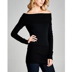 """Ceremonial"" Off Shoulder Long Sleeve Top Off shoulder long sleeve top. Only available in black. Brand new. True to size. NO TRADES. Bare Anthology Tops Tees - Long Sleeve"