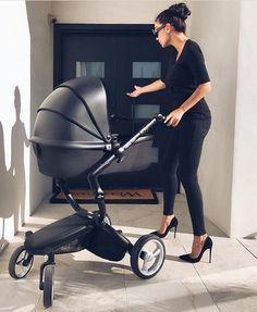 For-Your-Little-One Fourrure pour landau Compatible Mothercare Noir