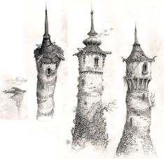 """""""The Brothers Grimm"""" 2005 tower concept art"""