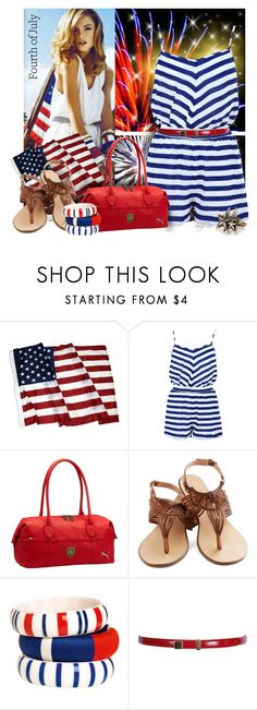 """""""4th of July"""" by sheryl-lee ❤ liked on Polyvore featuring Puma, By Malene Birger, Peter Lang and Just Female Acces"""