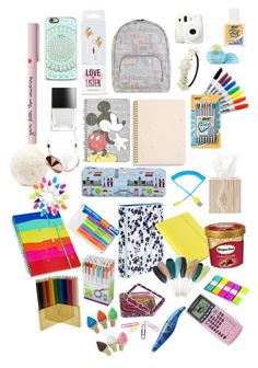 School Supplies :) by justsonals on Polyvore featuring interior, interiors, interior design, home, home decor, interior decorating, Pigeon & Poodle, Sugar Paper, Harrods and Avery