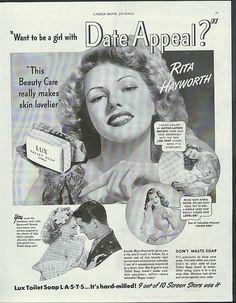 Rita Hayworth ad