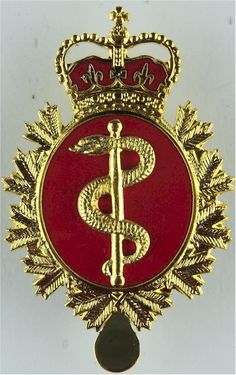 Canadian Armed Forces Medical Branch Other Ranks' metal cap badge for sale