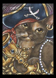 Pirate Cat 6 by natamon.deviantart.com on @DeviantArt
