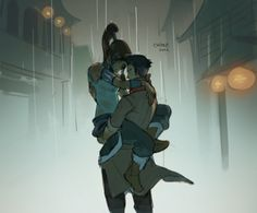 """""""Let's walk home together."""" """"Alright, but let me carry you."""" """"Mako, really? All the way like this?"""" """"You let Naga do it."""""""