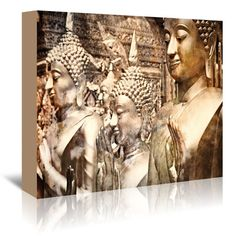 """East Urban Home Buddha Thailand Photographic Print on Wrapped Canvas Size: 16"""" H x 20"""" W x 1.5"""" D"""