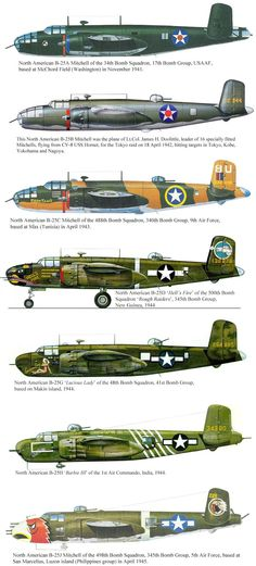 B25 Mitchel Medium Bombers