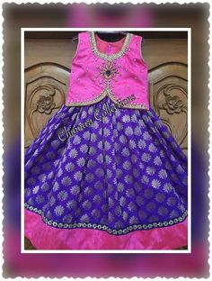 Baby Girl Frocks, Frocks For Girls, Little Girl Dresses, Girls Dresses, Girls Frock Design, Kids Frocks Design, Kids Indian Wear, Kids Blouse Designs, Kids Dress Patterns