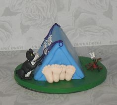 Tent Wedding Cake Topper for Alexina