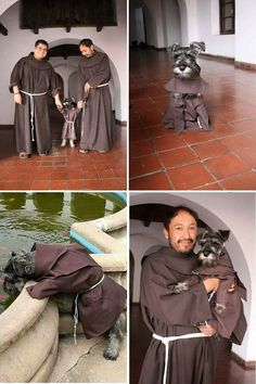 "This is ""Fray Bigotes"" (""Brother Moustache""), a dog who lives with Franciscan monks at a monastery in Bolivia."