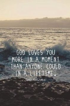 it's crazy to think about this. right now, imagine the people that you love the most in this world. God loves you SO much more than that. I think that's the coolest thing ever Bible Verses Quotes, Faith Quotes, Scriptures, Quotes Quotes, Godly Quotes, Feminist Quotes, Famous Quotes, Happy Quotes, Wisdom Quotes