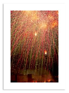 Fireworks over Jerusalem Art Print by Tal Paz-Fridman - X-Small