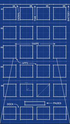 Blueprint home screen