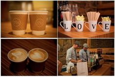 What a cute #coffee bar to have at a wedding. What unique thing did you do at your wedding?