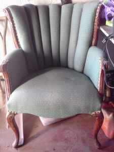 Wingback chair - $30 (grafton)