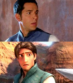 Zachary Levi as Flynn Rider in 'Tangled.' Disney has used footage of an actor to replicate a character's emotions and facial expressions. If they are moving as well, sometimes Disney will also use the actor's mannerisms and movements for animation reference.