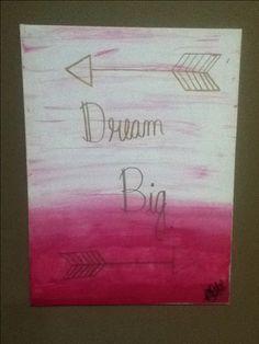 Always dream big // canvas wall art // girls room decor