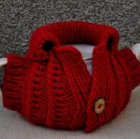 Knitting : Xmas Tea Cosy easy knitted Pattern