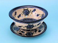 Polish Pottery Berry Bowl-Blue Poppy, $54.95