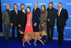 Tommy & his beloved Woody & Emily Browning & director Brian Helgeland & other at the Legend World Premiere at Odeon Leicester Square (London, England) - September 3, 2015 / TH0139C
