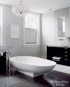 Grayson: a different shade of grey: INTERIOR DESIGN: Lori Graham, black white and grey via dwellingsanddecor.tumblr.com