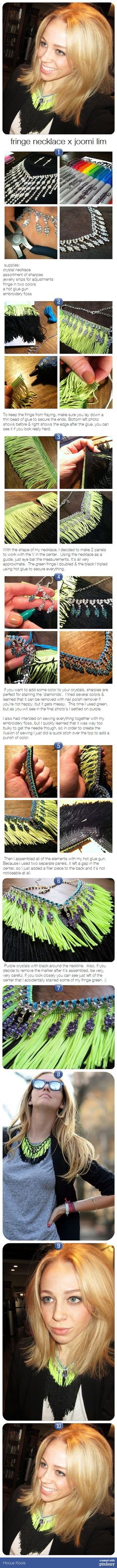 fringe necklace x joomi lim via pindemy.com
