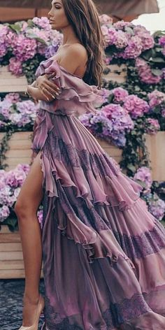Bohemian Maxi Purple Dress - Elegant boho-chic dress, boho style clothing, long fall dress Source by - Trendy Summer Outfits, Boho Outfits, Fashion Outfits, Fashion Trends, Long Fall Dresses, Dress Long, Bohemian Schick, Elegant Girl, Bohemian Mode