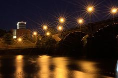 Dillingham Street Bridge in Columbus GA with Columbus Government Center in background.